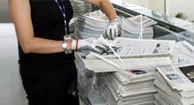 Newspaper handling